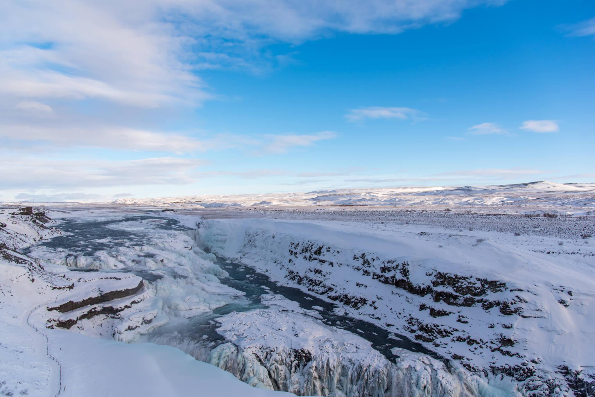 wasserfall berg schnee eis island wasser