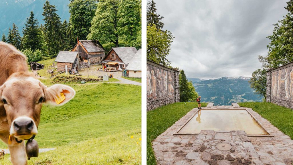 schweiz heidiland walensee walenstadt tschingla wandern berge alm sonne wolken paxmal