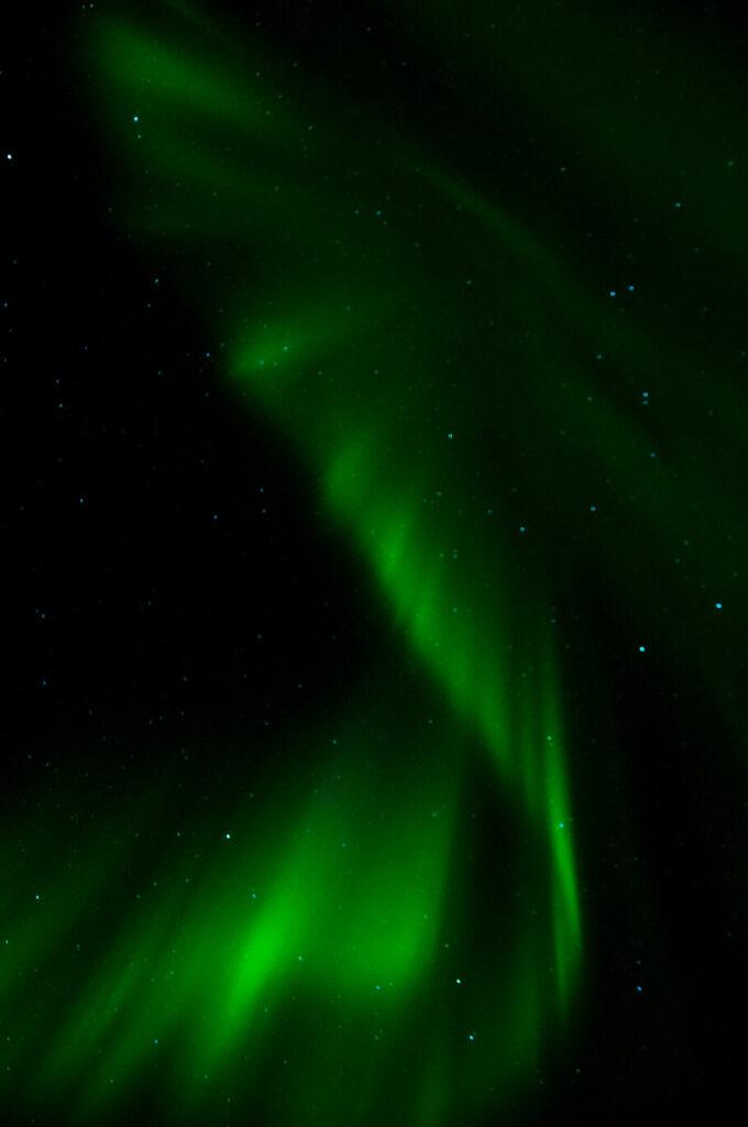 nordlichter grün dunkel stern island