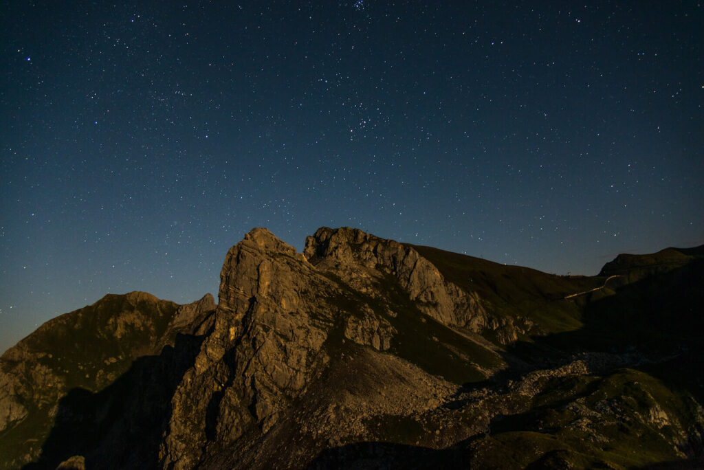 lech zuers vorarlberg mountain night dark stars dark