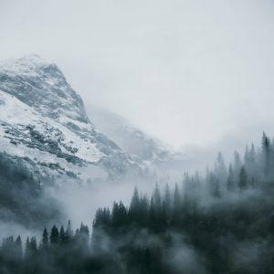 vorarlberg lech zuers lechweg second-stage snow trees mountain