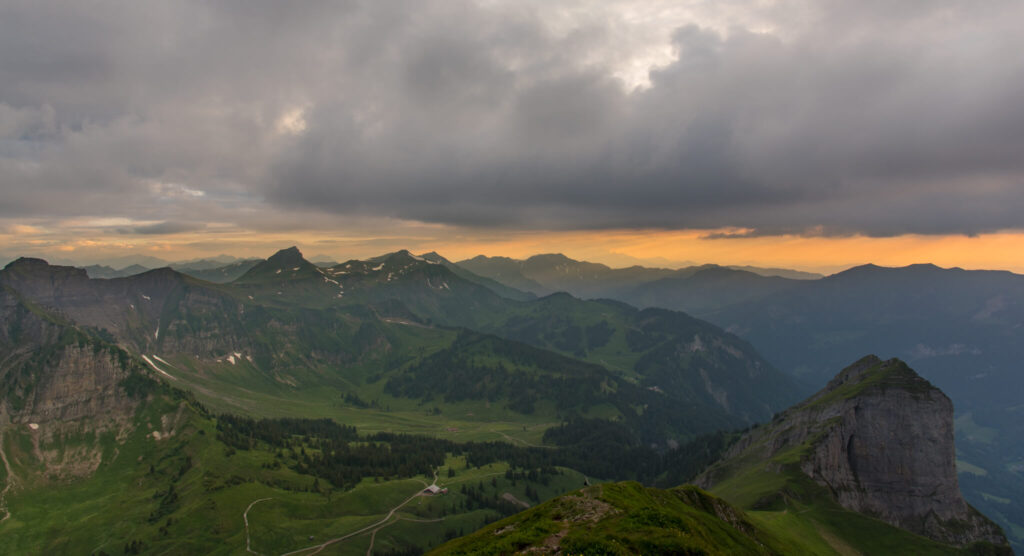 vorarlberg kanisfluh bregenzerwald hiking mountain sunset