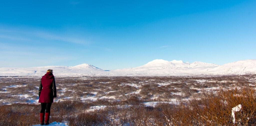 island schnee blau himmel frau berge