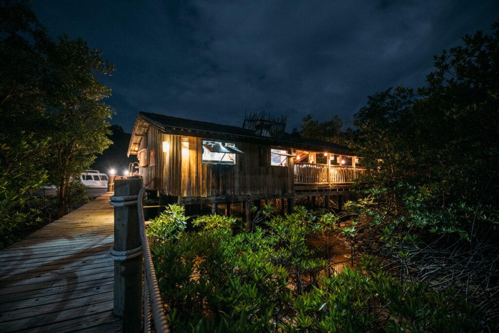 thailand koh-kood soneva-kiri restaurant benz night
