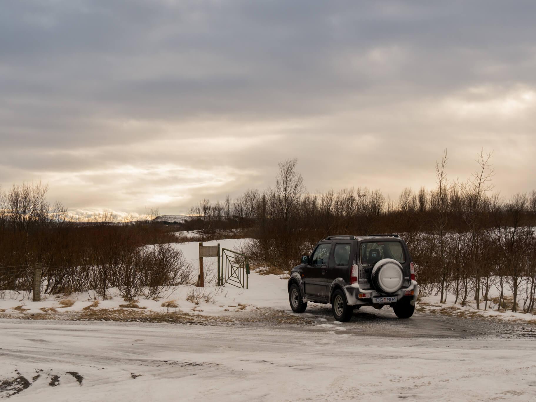 island auto schnee bäume schnee straße
