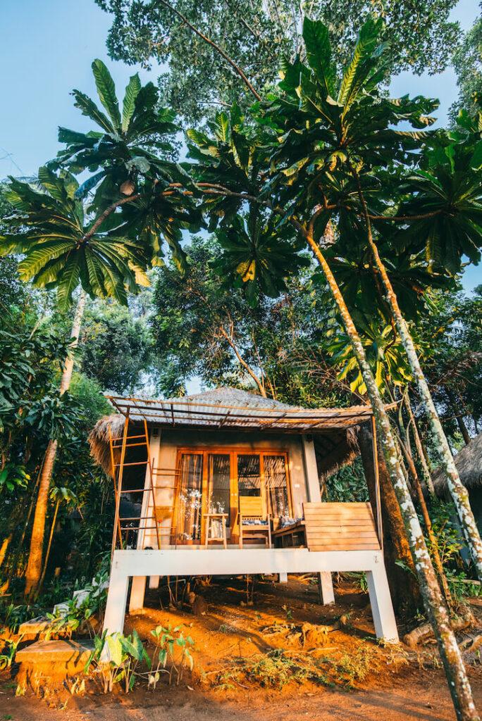 thailand koh-mak hut tree hotel sunset bungalow