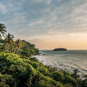 thailand koh-kood soneva-kiri hotel palm-tree sunset island sea