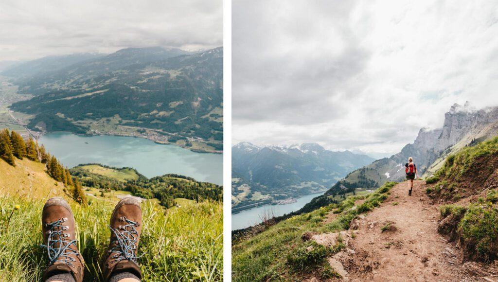 switzerland heidiland tschingla mountain women walensee lake shoes