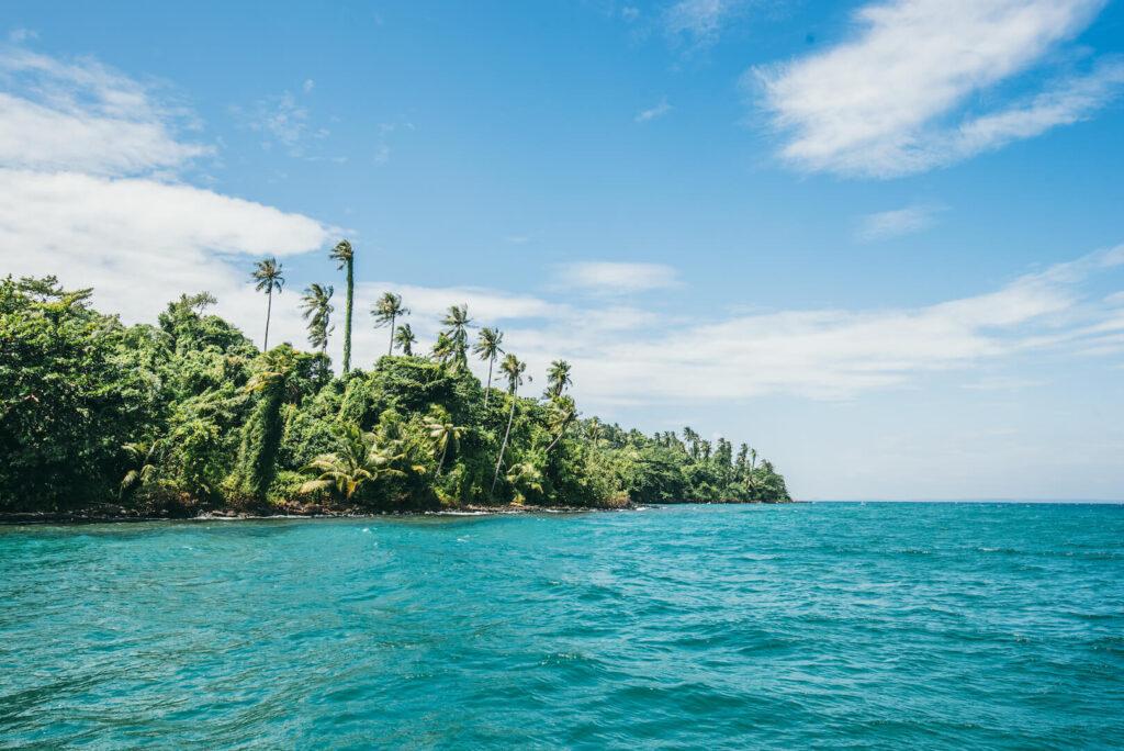 thailand koh-kood soneva-kiri sky clouds palm tree sea water