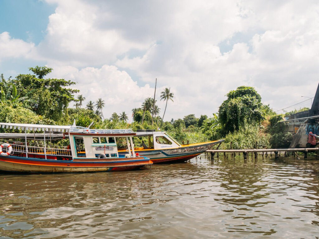thailand taling-chan floating-market bangkok water boat river