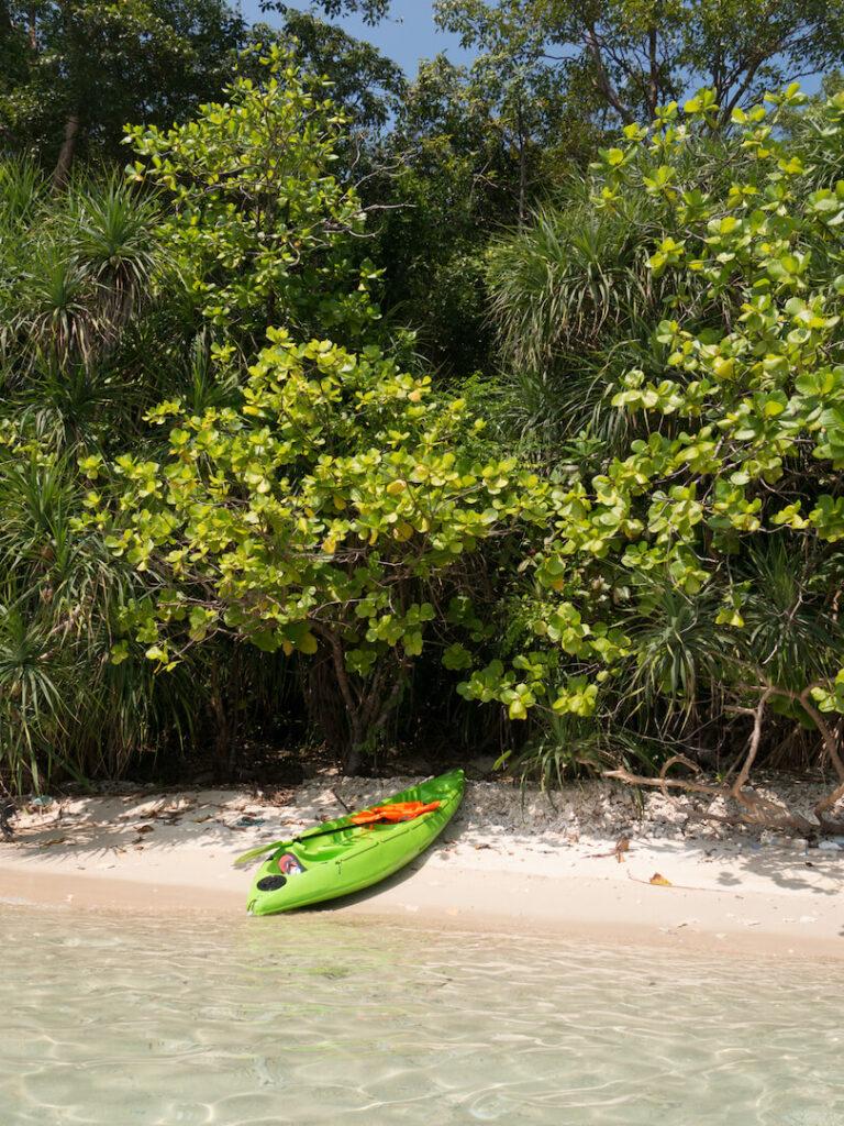 thailand koh-mak beach water sea kayaking island