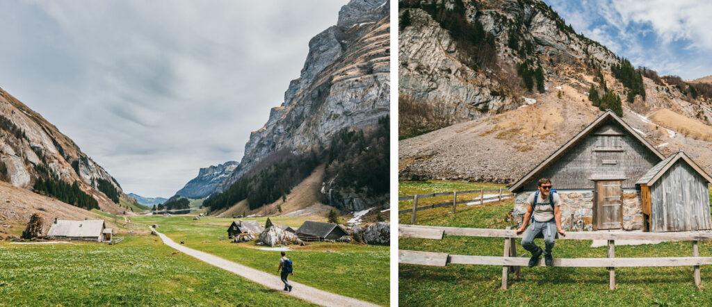 schweiz appenzeller-land seealpsee wandern see berge alm hütte mann