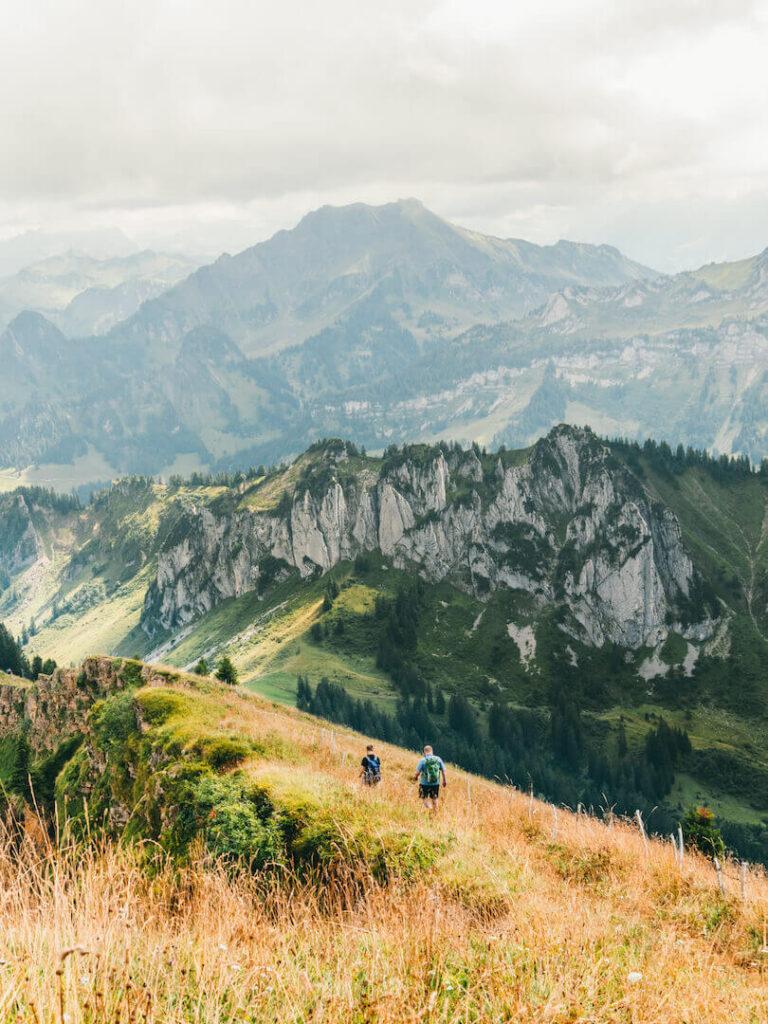 vorarlberg bregenzerwald bezau winterstaude hiking clouds cow peak cross