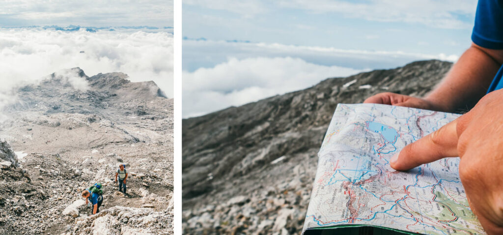 vorarlberg lünersee schesaplana hiking rätikon clouds lake mountain