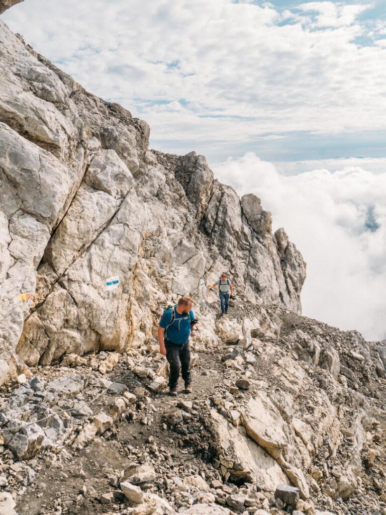 vorarlberg lünersee schesaplana hiking rätikon clouds mountain man