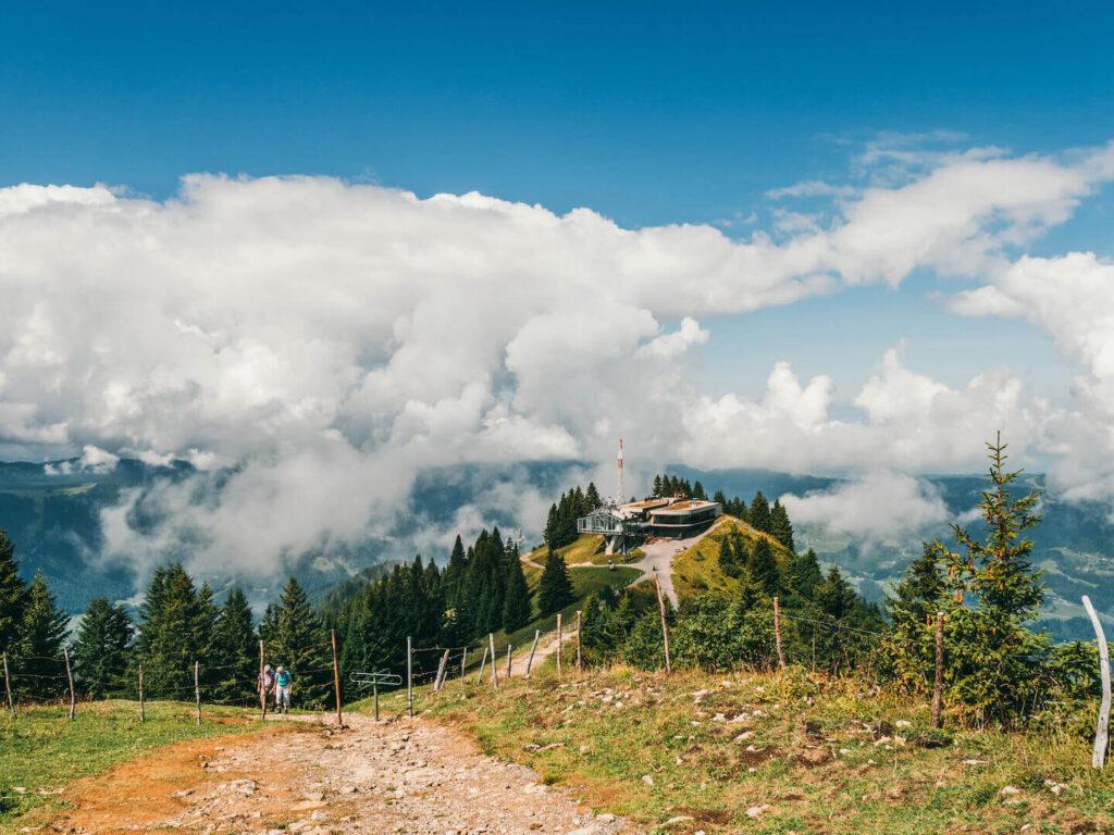 vorarlberg bregenzerwald bezau hiking calbe-car clouds