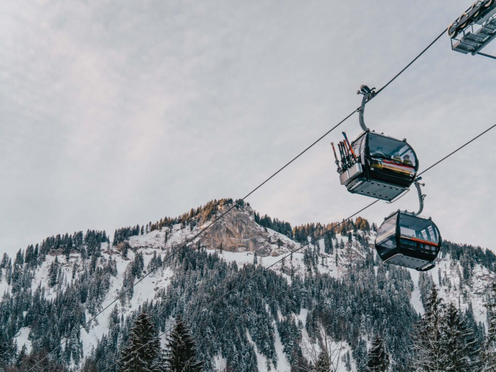 vorarlberg damüls-mellau damüls mellau skigebiet winter gondel lift ski-fahren