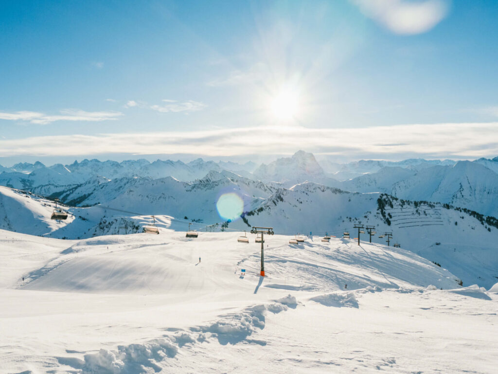vorarlberg diedamskopf bregenzerwald skiing winter snow sun snowboard