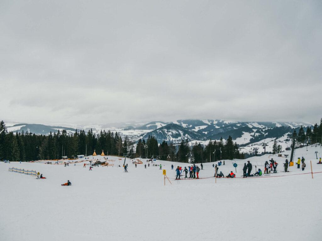 allgäu bayern steibis imbergbahn oberstaufen skigebiet ski-fahren winter schnee