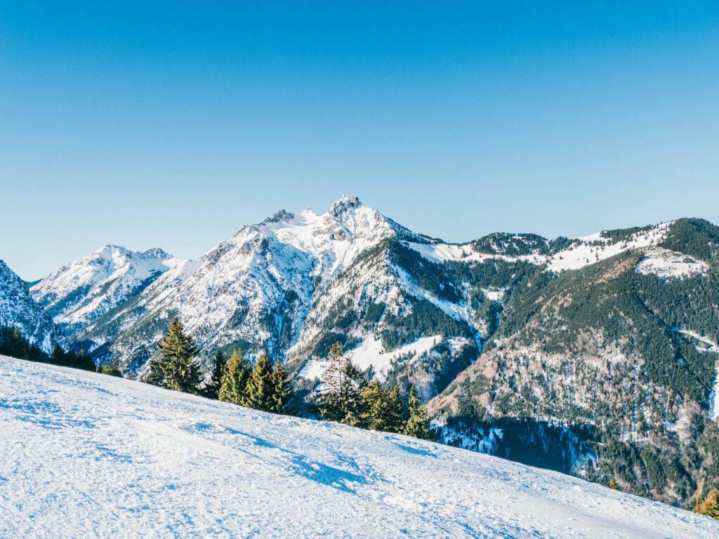 vorarlberg rheintal frastanz ski-fahren winter schnee berge himmel