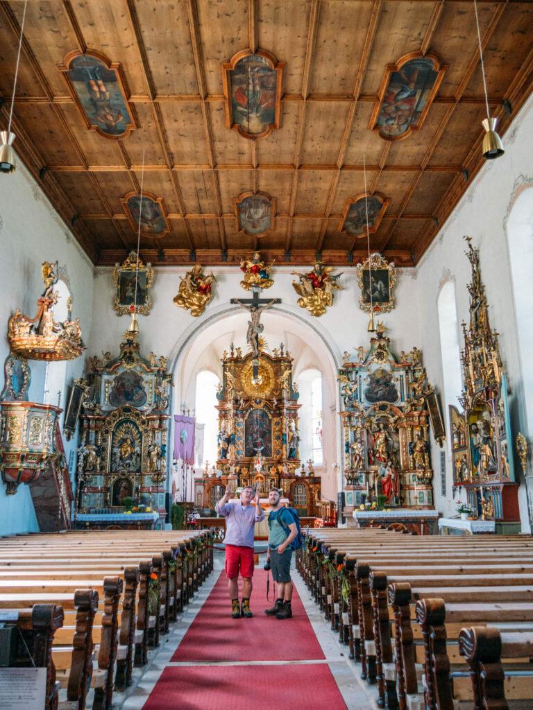 vorarlberg montafon bartholomäberg hiking bees schruns spring church