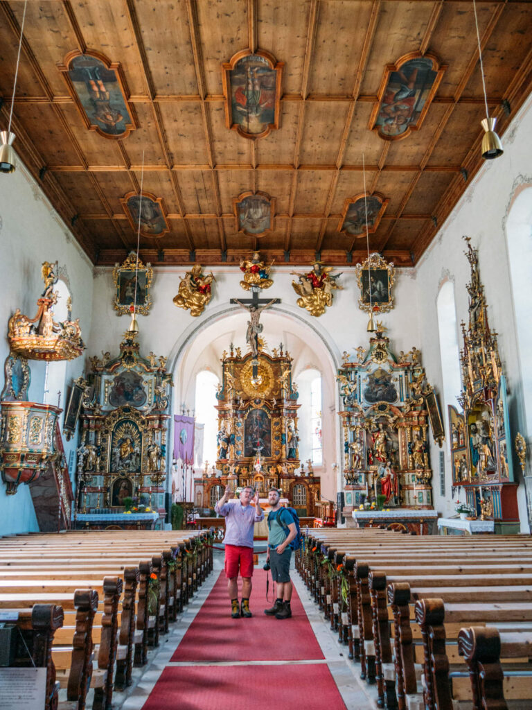 vorarlberg montafon bartholomäberg imkerwanderung kirche