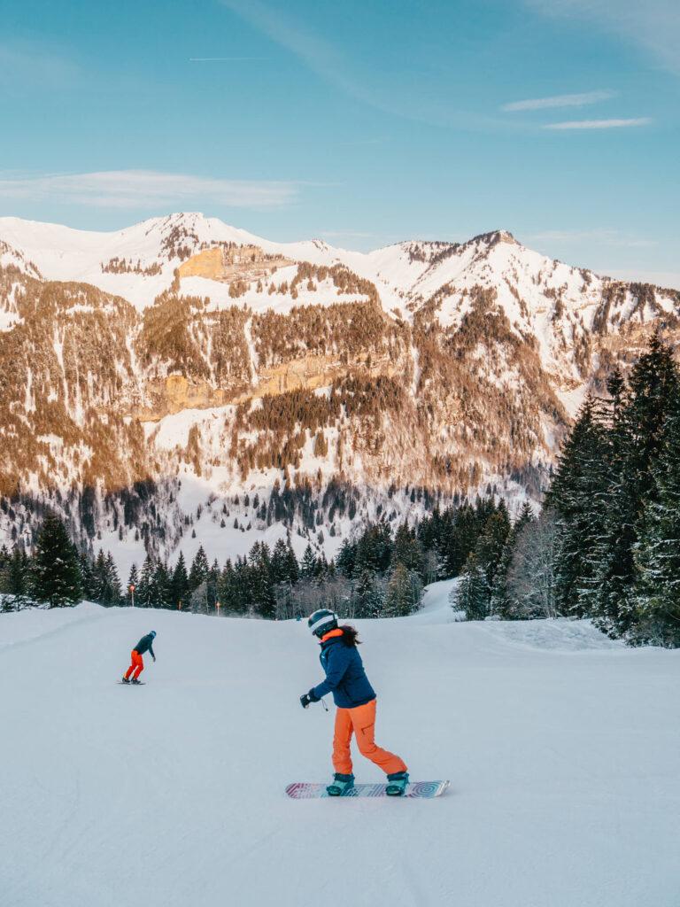 vorarlberg damüls-mellau damüls mellau skigebiet winter talabfahrt ski-fahren snowboard