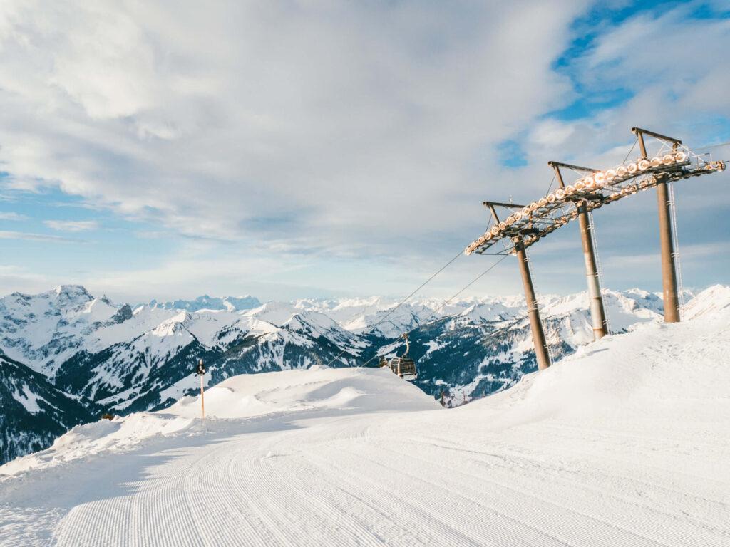 vorarlberg diedamskopf bregenzerwald skiing winter snow sun snowboard lift