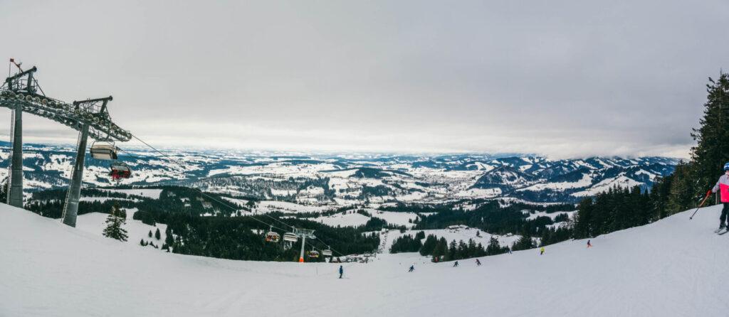 allgäu bayern steibis imbergbahn oberstaufen skigebiet ski-fahren winter schnee lift