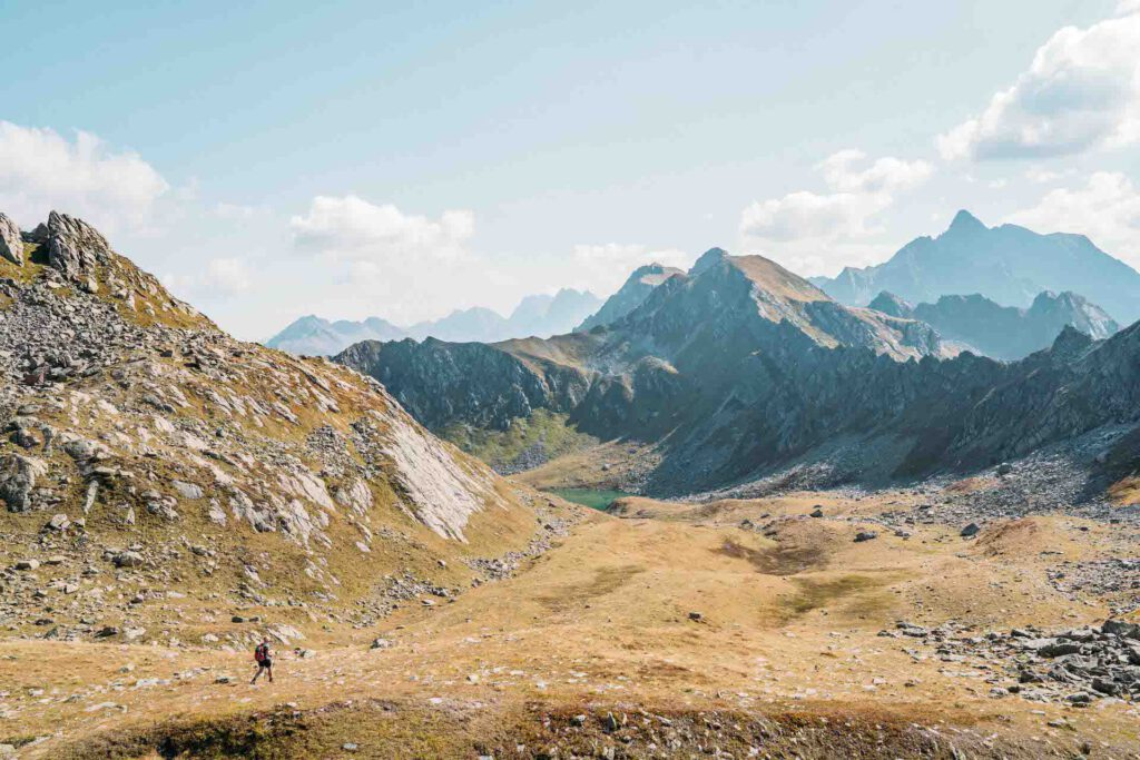 vorarlberg montafon berge aplguesalpe grasjochhütte rundwanderung frau see
