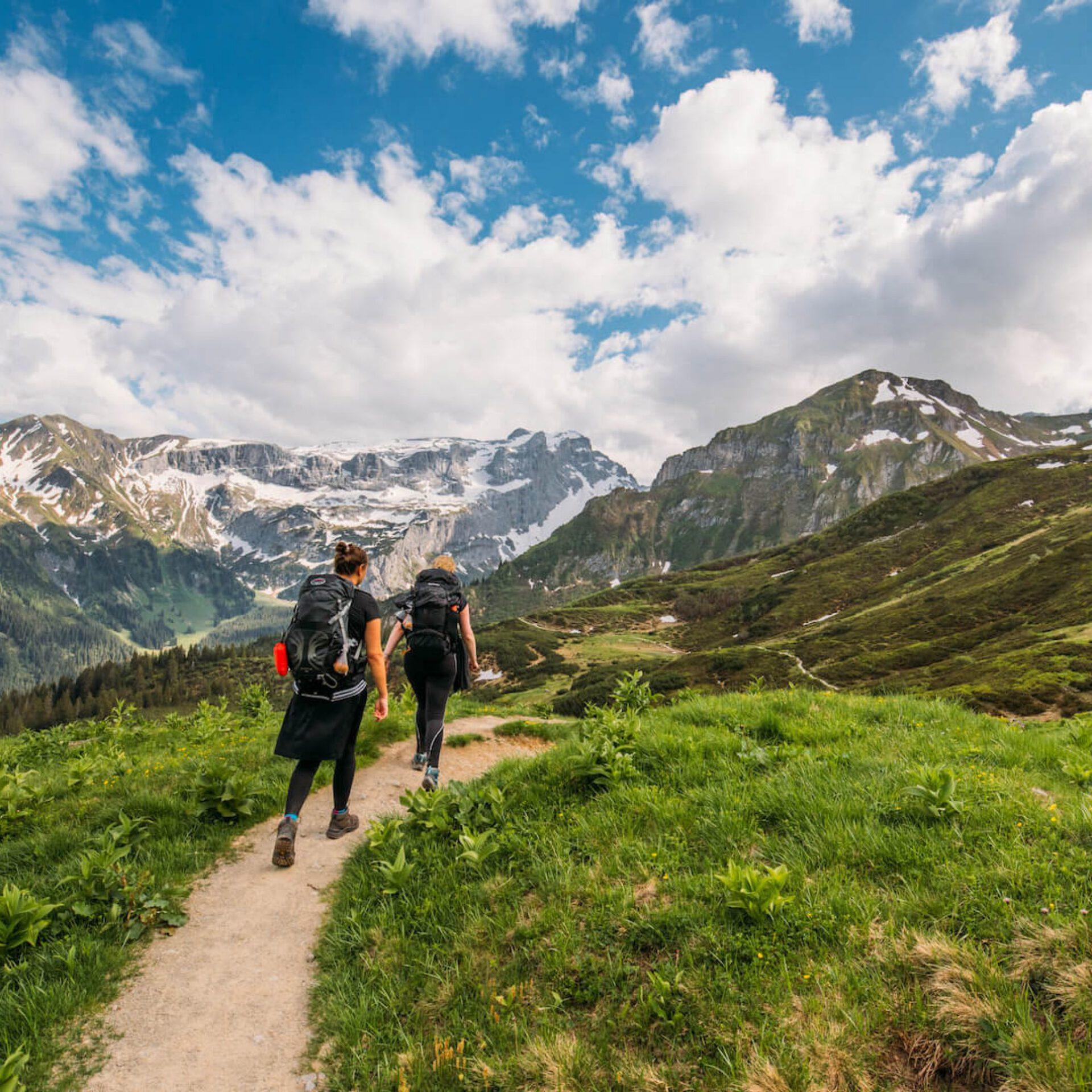 vorarlberg gauertal hiking lake mountains golm montafon snow