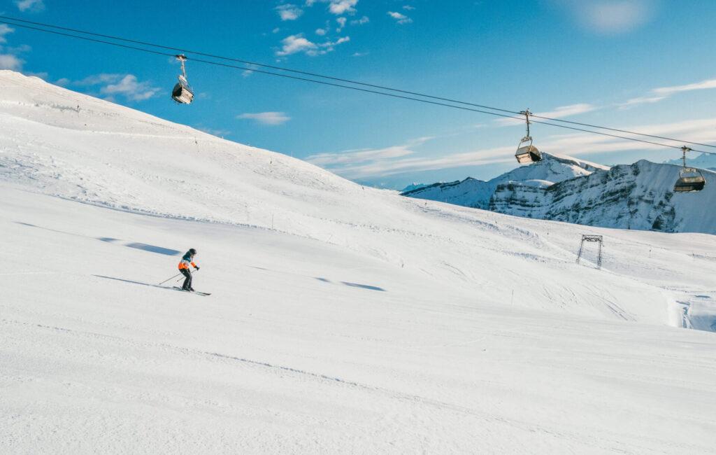 vorarlberg diedamskopf bregenzerwald skiing winter snow mountain snowboard piste
