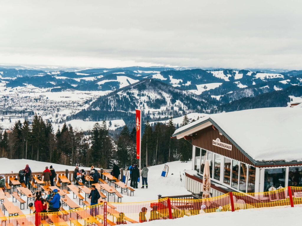 allgäu bayern steibis imbergbahn oberstaufen skigebiet ski-fahren winter schnee hütte
