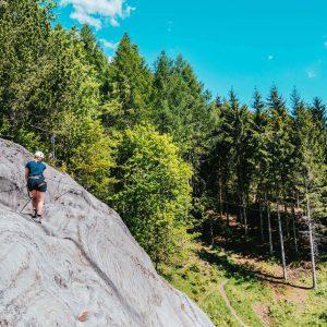 vorarlberg montafon latschau via-ferrata-course via-ferrata golm rock woman