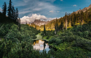 vorarlberg montafon silbertal langsee mountainbike berge bäume see