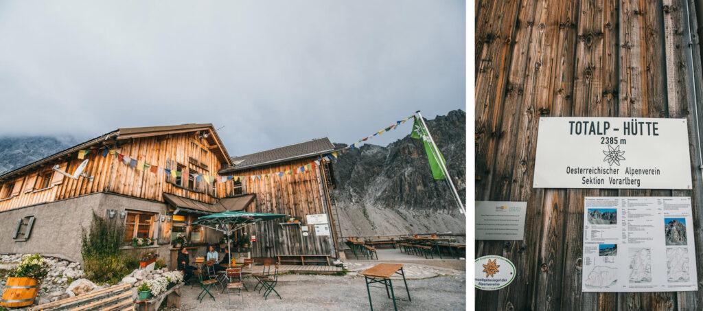vorarlberg lünersee hiking rätikon mountain clouds totalphütte hut