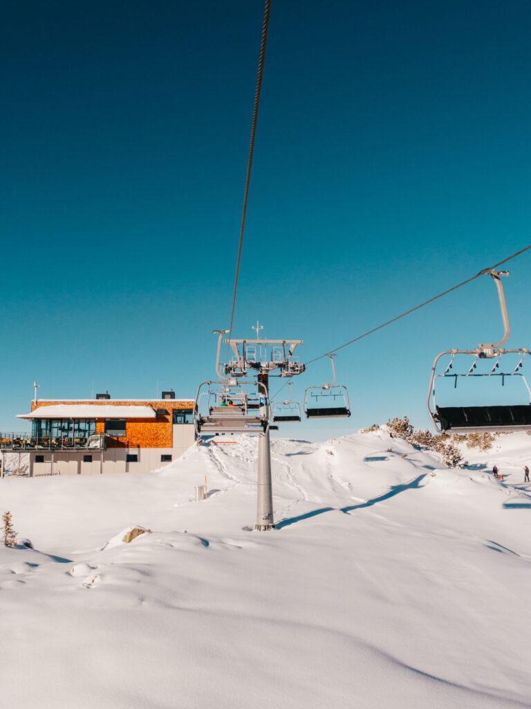 vorarlberg sonnenkopf arlberg klostertal ski-fahren winter berge lift muttjöchle