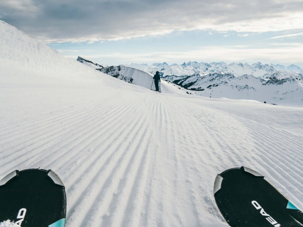 vorarlberg diedamskopf bregenzerwald skiing winter snow mountain snowboard piste ski