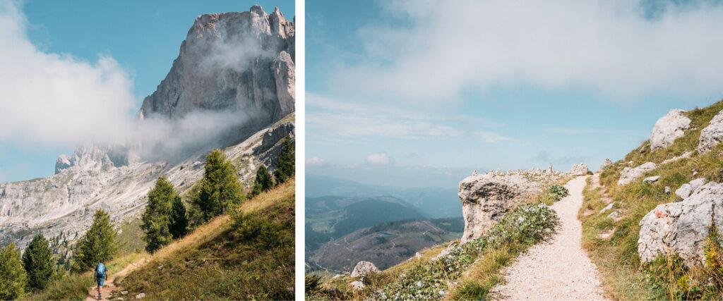 südtirol dolomiten eggental berge wandern latemar wolken