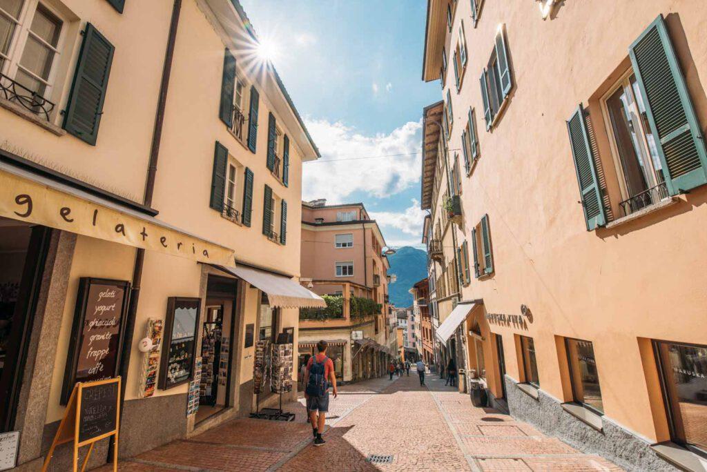 switzerland ticino lago-maggiore ascona city house sun