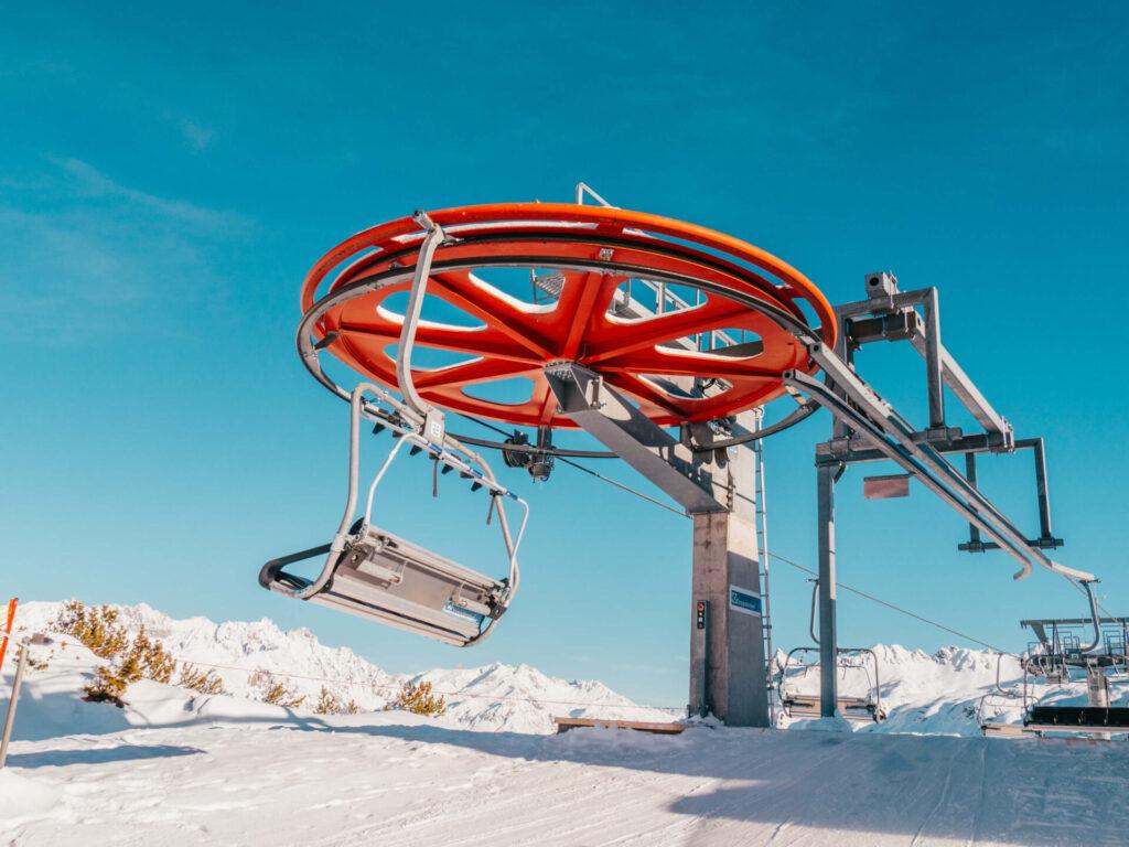 vorarlberg sonnenkopf arlberg klostertal ski-fahren berge lift muttjöchle winter