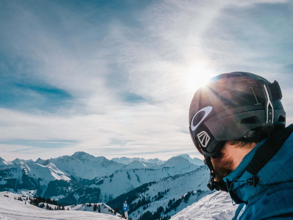 vorarlberg damüls-mellau damüls mellau skigebiet winter ski-fahren mann berge