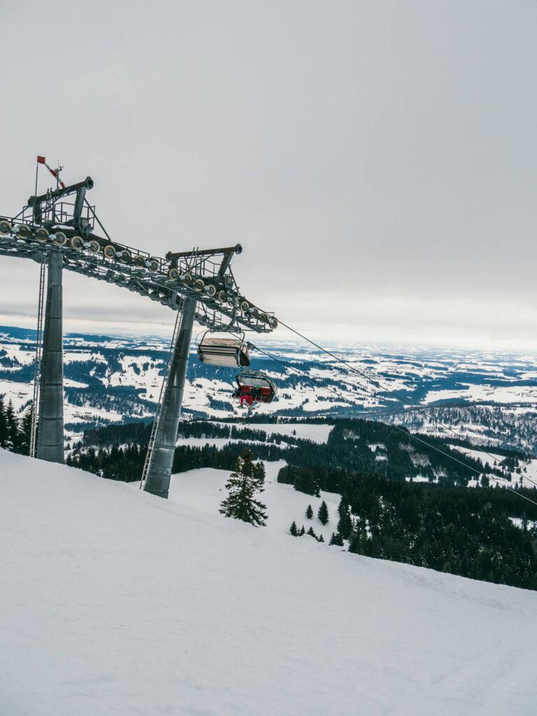 allgäu bayern steibis imbergbahn oberstaufen skigebiet ski-fahren winter lift schnee