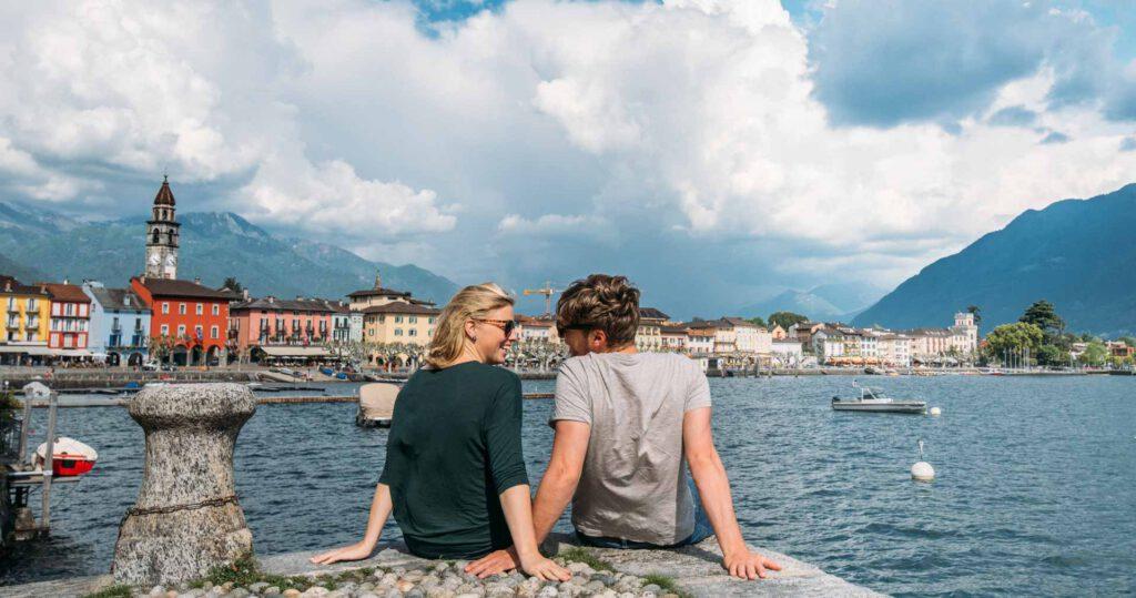 schweiz tessin lago-maggiore see ascona mann frau