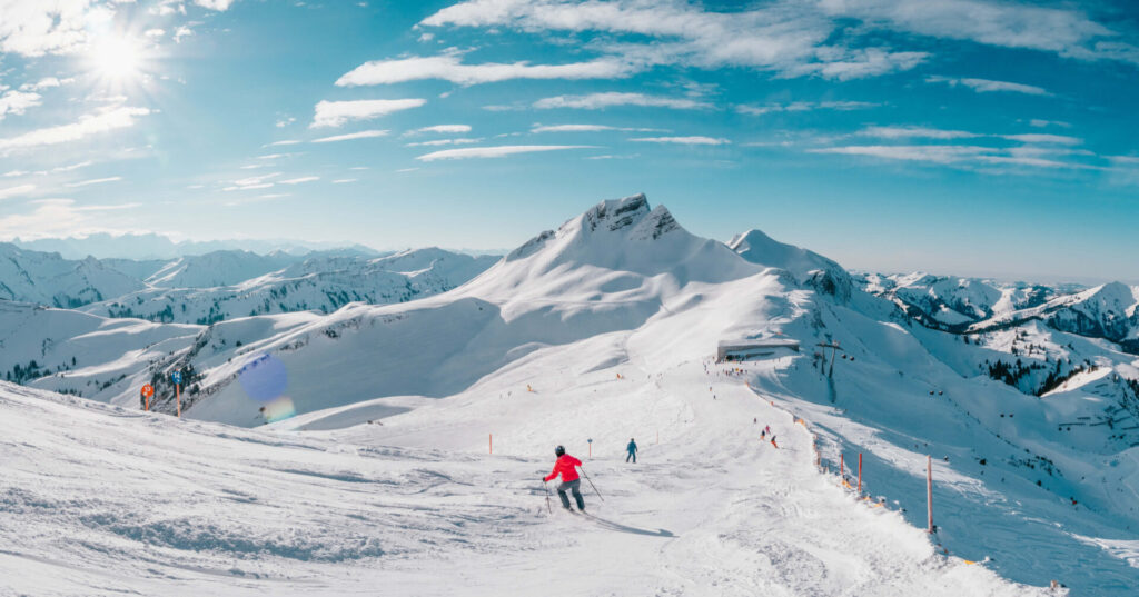 vorarlberg damüls-mellau damüls mellau skigebiet winter ski-fahren damüler-mittagsspitze