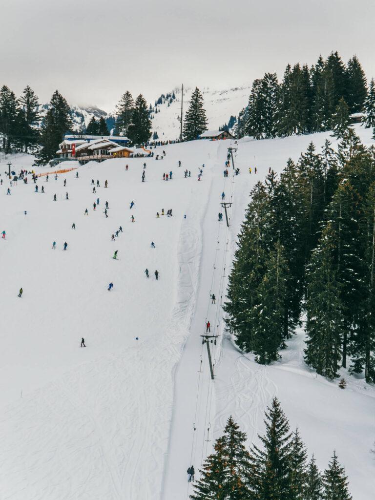 allgäu bayern steibis imbergbahn oberstaufen skigebiet ski-fahren winter schnee piste