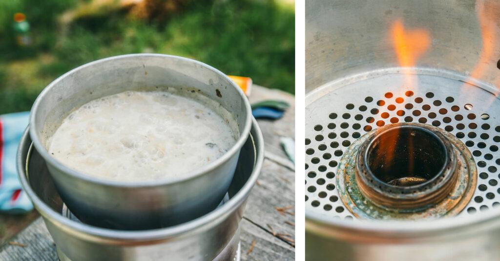 schweiz tessin bavona-tal kocher essen pause