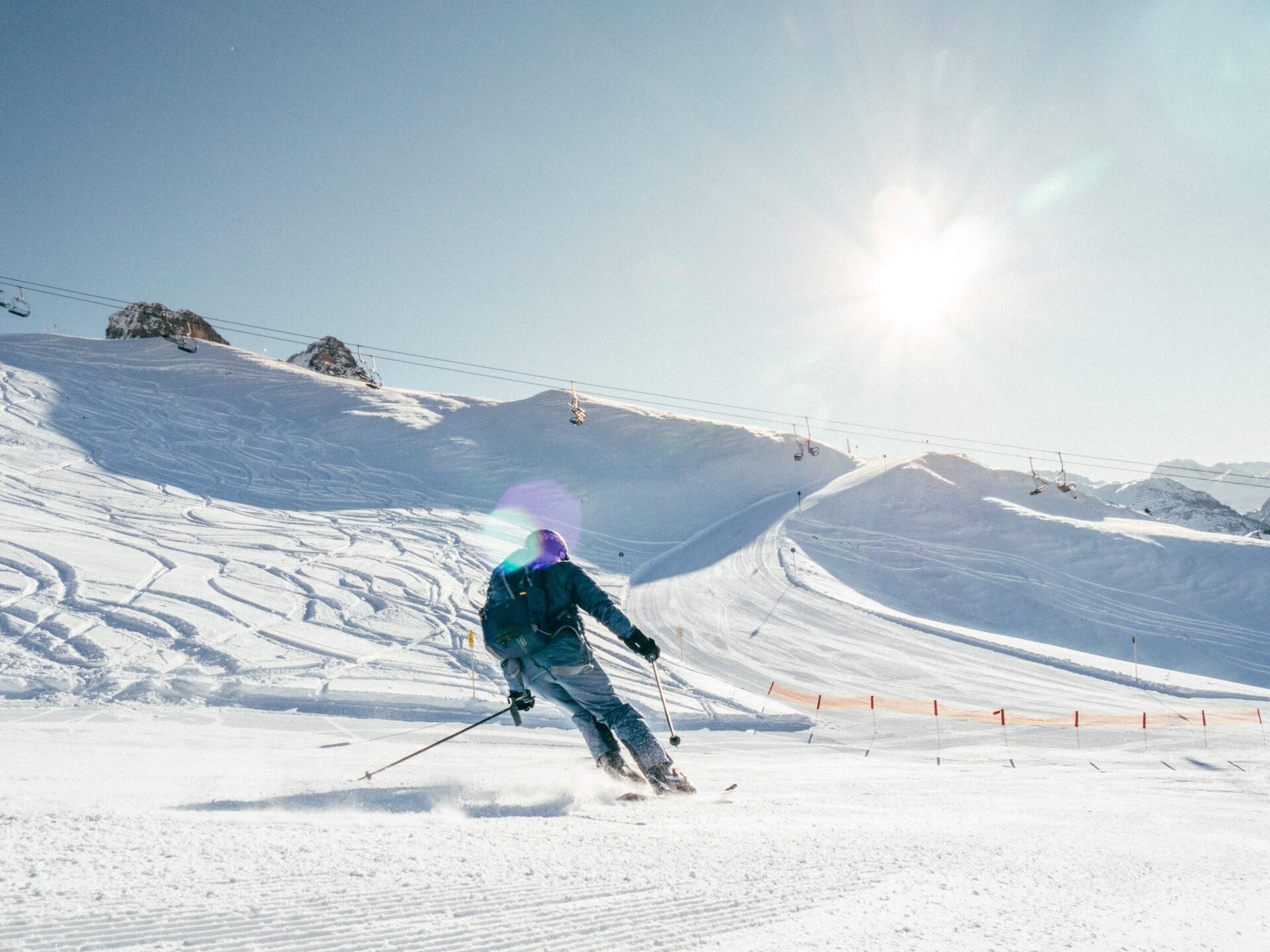 vorarlberg warth-schröcken warth schröcken ski-arlberg ski-fahren schnee winter mann