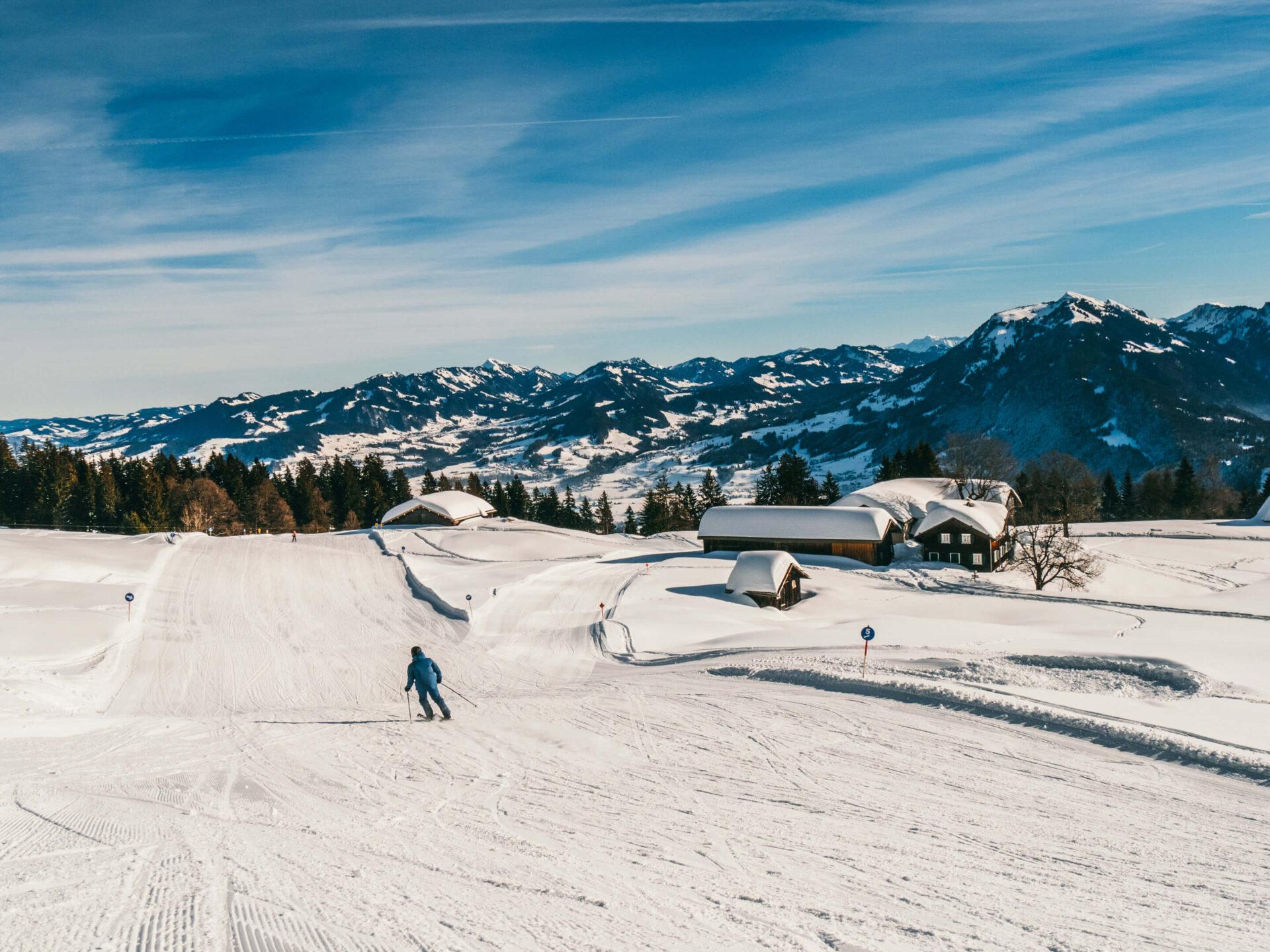 vorarlberg bödele schwarzenberg bregenzerwald skiing house mountain
