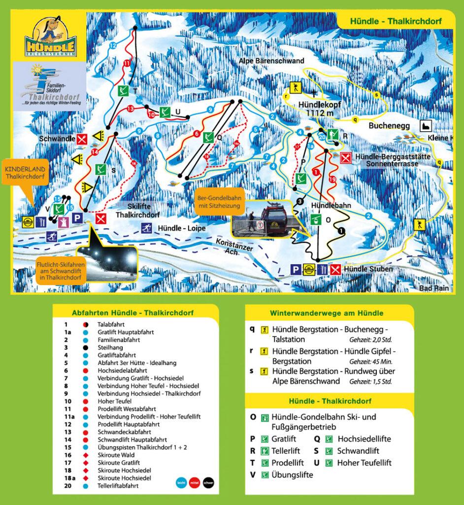 allgäu bayern oberstaufen huendlebahn skigebiet ski-fahren winter schnee berge karte